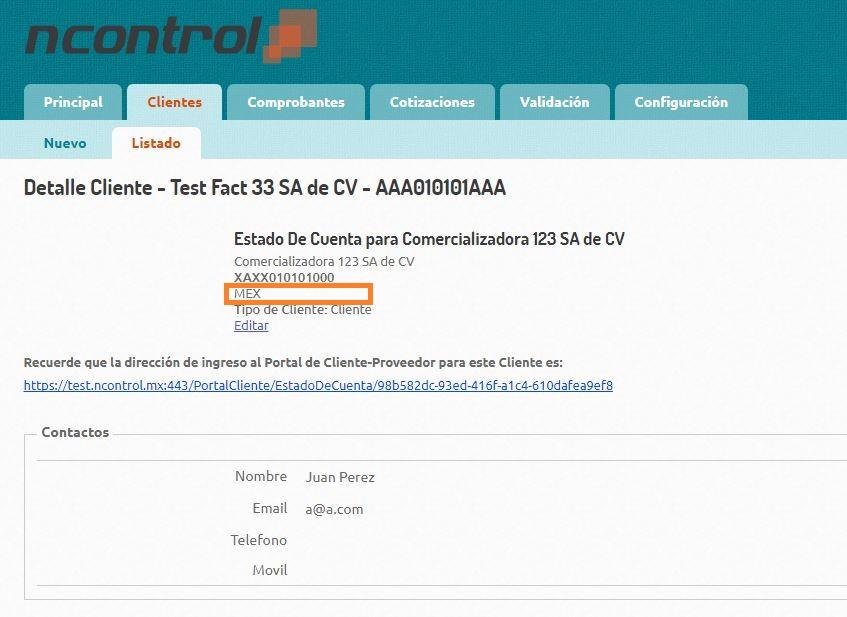 Domicilio Receptor - Detalle Cliente
