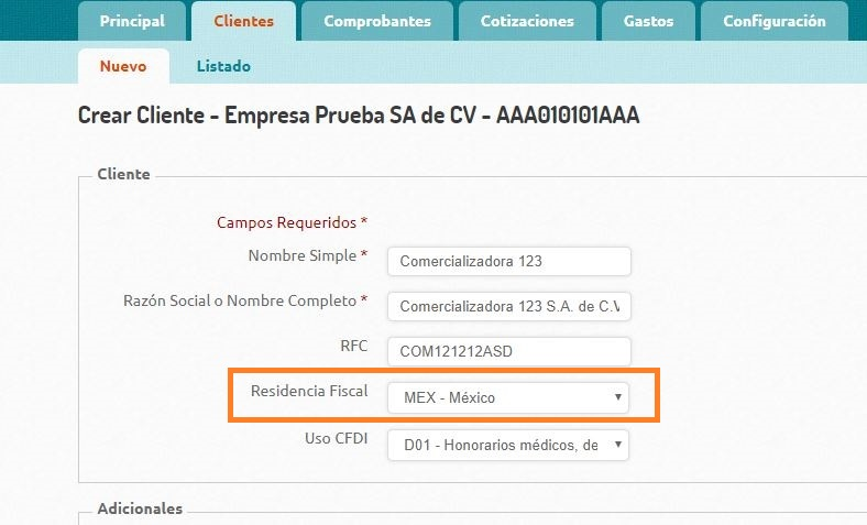 Domicilio Receptor - Edicion Cliente